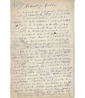 DELAFOSSE Jules. Ecrivain, journaliste et homme politique. Manuscrit (4 pp.) (Réf. G 822)