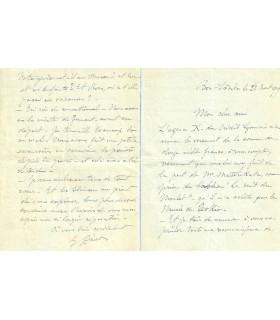 DINET Eienne. Peintre orientaliste. Lettre autographe, 1919 (Réf. G 3076)