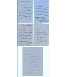 DROUYN DE LHUYS Edouard. Ministre des Affaires étrangères. 5 lettres autographes au directeur de La Presse (Réf. G 1043)