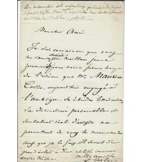 GOZLAN Léon. Journaliste et romancier né à Marseille. Lettre autographe (Réf. E 10564)