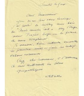 HALLO Charles Jean. Peintre, dessinateur, graveur et photographe. 3 lettres autographes, à Charles Miguet
