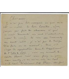 LEMAITRE Jules. Ecrivain, dramaturge. Carte autographe à Catulle-Mendès, sans date. ( E 10561)