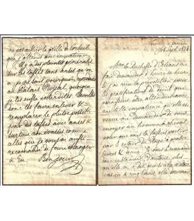 LOUIS PHILIPPE D'ORLEANS. Roi des Français de 1830 à 1848. Lettre autographe, 1824 (Réf. G 5452)