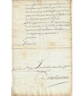 PONTCHARTRAIN Louis Phélypeaux, comte de Maurepas. Ministre de la Marine. Lettre signée (Réf. G 3043)