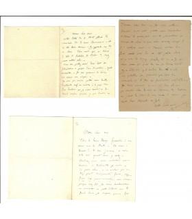 POUCHET Georges. Naturaliste, ami de Maupassant. 3 lettres autographes (Réf. G 2056)