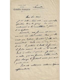 SECHE Alphonse. Poète, journaliste, directeur de théâtre. Lettre autographe (Réf. G 64)