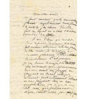 WALLON Henri. Agrégé d'histoire Député du Nord. Professeur à la Sorbonne. Lettre à un collègue de l'EN (Réf. G 2776)