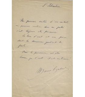 HABERT Marcel. Homme politique. Ami de Déroulède. Billet autographe (sans date) (Réf. G 769)