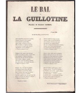 """Le Bal de la Guillotine"" contre Louis-Napoléon Bonaparte"
