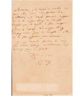 BAUDELAIRE Charles à Edouard Laumonier