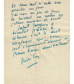 STAEL Nicolas de. Peintre. Lettre autographe au père dominicain Jacques LAVAL (Réf. G 5813)