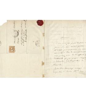 WALFERDIN François, physicien. Lettre autographe (G 465)