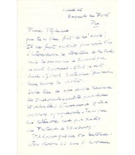 POULENC, belle lettre amicale à son biographe
