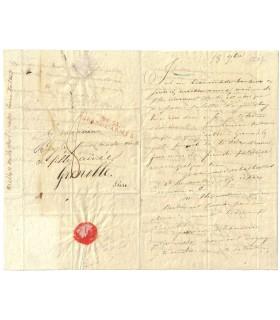 STENDHAL, Henri Beyle, Lettre autographe à sa très aimée soeur Pauline (Réf. G 3911)