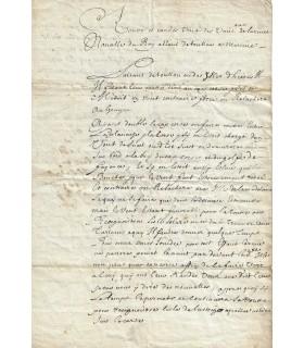 DUQUESNE Abraham, marquis de. Lieutenant-général de l'Armée navale. Pièce signée, 15 décembre 1675 (Réf. G 140)