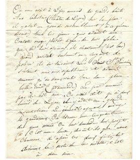BAUDELAIRE, lettre de jeunesse
