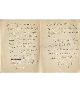 RAVEL 24 avril 1922 à son ami Soulié de Morant
