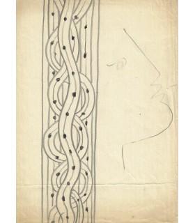 COCTEAU (Jean), à Margaret Brusset, Lettre autographe et  dessin original (Réf. G 5357)