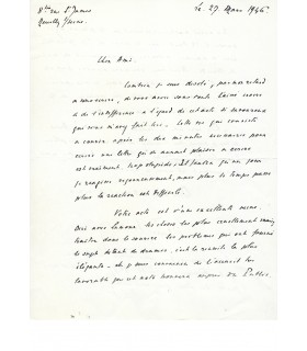 FRESNAY (Pierre). Lettre autographe signée.