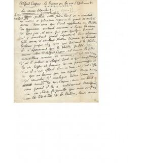 JARRY (Alfred). Ecrivain, créateur du personnage d'Ubu. Manuscrit autographe (G 3705)