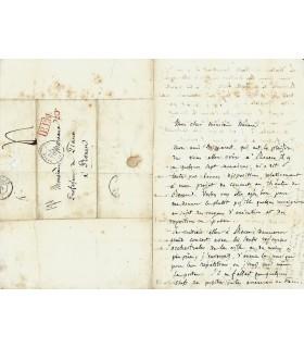BERLIOZ Hector. Compositeur. Lettre autographe (1838) (G 4807)