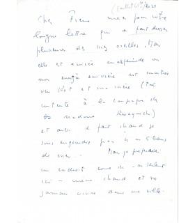 FINI Leonor. Peintre surréaliste. Lettre autographe, 20 juillet 1965 (Réf. G 3166)