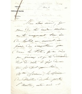 ADAM (Adolphe Charles). Compositeur. Lettre autographe (Réf. G 1682)