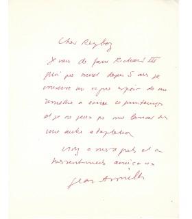 ANOUILH (Jean). Dramaturge. Lettre autographe (Réf. G 5287)