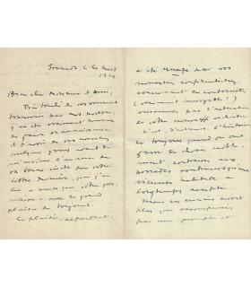 FALLA Manuel de, 20 mars 1929, superbe et longue lettre (7 pages) sur ses projets