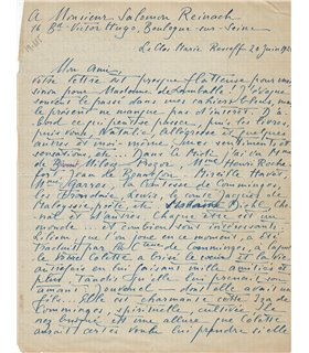 POUGY Liane de,  lettre passionnante