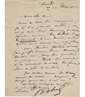 BOTREL Théodore. Compositeur, auteur de La Paimpolaise. Lettre autographe (Réf. G 4952)