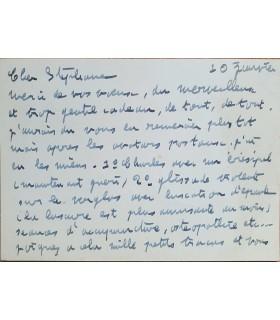 POULENC Francis, 10 janvier 1954.