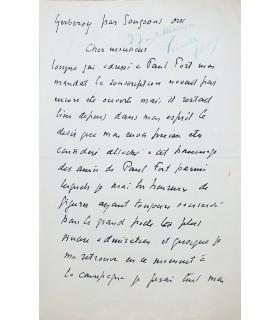 LE SIDANER Henri. Peintre post-impressionniste. 2 lettres