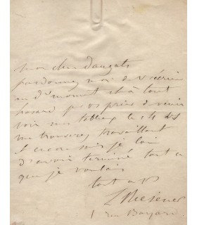 RIESENER Léon. Peintre romantique, cousin de Delacroix, à Dauzats.