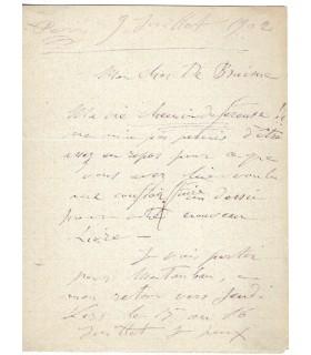 BOURDELLE (Antoine) L.A.S. au poète H. de Braisne G 3389