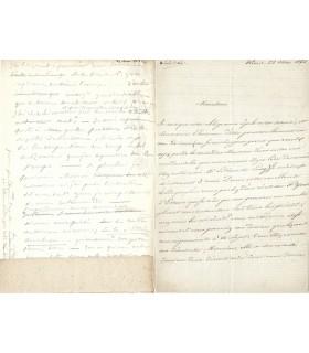 DENIS (Ferdinand) Correspondance avec Edouard Frère G 5126