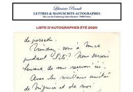 Liste d'autographes Été 2020