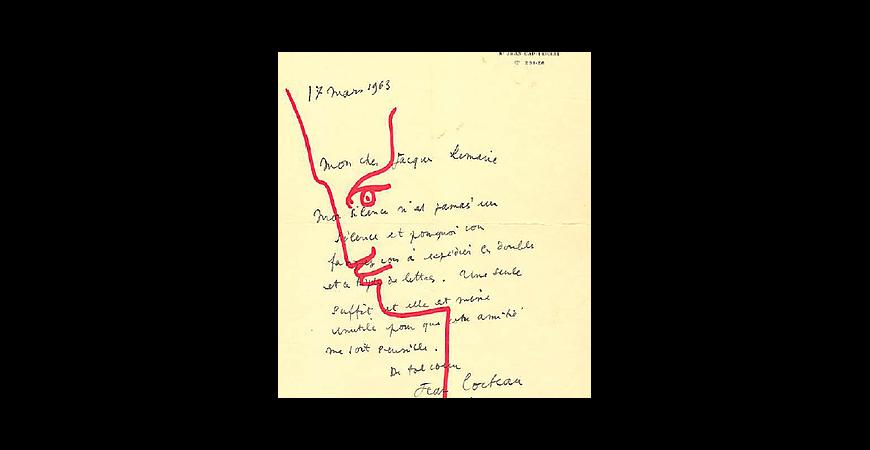 Lettre Autographe Signée,  Jean Cocteau